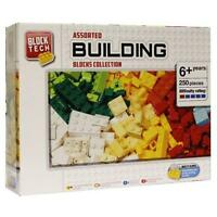 Block Tech Assorted Building Blocks Bricks Collection 250 Pieces Childrens Gift