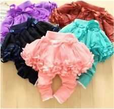 Baby Girls Infant toddlers Ruffle Legging with Tutu Skirt Shorts outfits dress