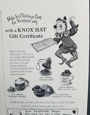 1952 Knox miniature hat box Tom and Jerry mug Christmas tree ball vintage ad