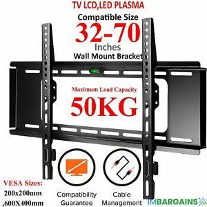 "TV WALL MOUNT BRACKET STAND LCD LED Plasma Flat 32 40 42 46 47 52 55 60 65 70"""