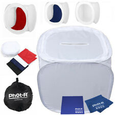 Phot-R Light Tent Softbox Cube 90cm Coloured Backdrops Microfibre Chamois Cloth