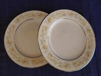 Noritake Blossom Time BREAD PLATE LOT of TWO 2 have more items to this set