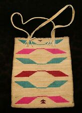 "An Antique Nez Perce Corn Husk Bag With a Native Tanned Handle 8 1/4""w x 9 1/4""h"