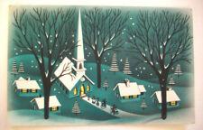 50's MCM  Photocraft add photo Christmas vintage greeting card *8B
