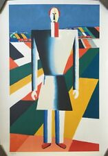 Original Kazimir Malevich Color Lithograph of Original Painting, Limited Edition
