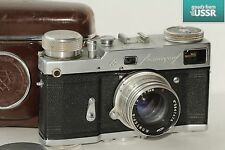 Rare LENINGRAD Russian Motor Camera First Edition 1958+ JUPITER-8 lens /Serviced