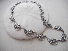 Vintage Sterling Danecraft Acorn & Oak Leaves Link Necklace   8939