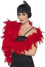 180cm Deluxe Red Feather Boa 20s Gatsby Flapper Burlesque Fancy Dress