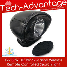 12V BLACK 35W HID LOW-LINE BOAT YACHT REMOTE JABSCO-STYLE CONTROL SEARCH LIGHT