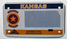 Kansas 2008 GOLD-STAR MOTHER BLANK MOTORCYCLE License Plate SUPERB QUALITY