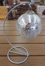 Antique Vintage Crackle Mercury Glass Kugel Ball Round Christmas Ornament