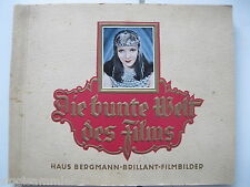 Die bunte Welt des Films Sammelbilderalbum 1934 Haus Bergmann nicht komplett