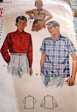 *LOVELY VTG 1940s BOYS SHIRT Sewing Pattern 8