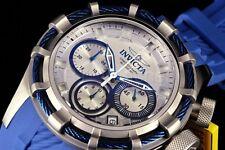 22152 Invicta Reserve Bolt 200M Blue/Silver Dial Chronograph 50mm Blu Strap Watc
