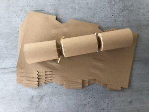 6 Kraft Natural Brown Make & Fill Christmas Cracker Kit Plastic Free