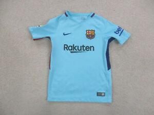 Nike Barcelona Soccer Jersey Youth Small Blue Black Spain Futbol Boy Kids B27*