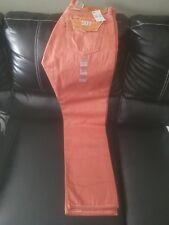 Levi's Levis Nwt Mens 501 Shrink to Fit Orange Raw Denim Jeans 005012403 34W 32L