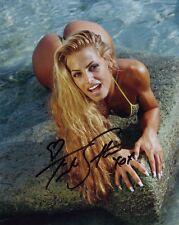 WWE Wrestling Divas Trish Stratus Poster Bent Over Autograph Reprint 8x10 Photo