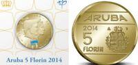 Aruba 5 florin 2014 KM 59 King/Konig Willem-Alexander im Hartberger Holder UNC