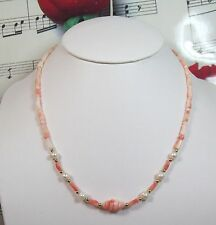 Genuine Natural Pink Coral Necklace With 14K GF Clasp. Graduated. MCR018