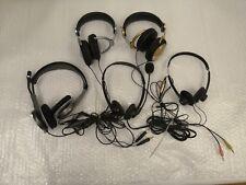 + Lot Of 5 Mix Brand Headset Maxell / Plantronics