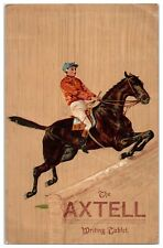 The Axtell Writing Tablet Equestrian Jumping Victorian Trade Card *VT18