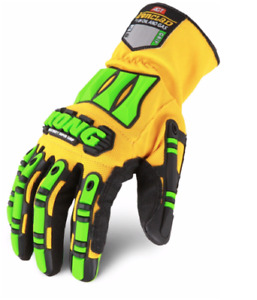 KONG SDXG2 Dexterity Super Grip Oil & Gas Safety Impact Gloves Yell/Green #P2