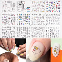 3D Nail Art Design Nail Water Abstract Art Mixed Transfer Stickers Decals