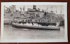 VINTAGE US NAVY Ship PHOTO Honolulu Hawaii  Original