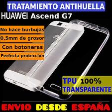FUNDA TPU DE GEL SILICONA 100% TRANSPARENTE PARA HUAWEI ASCEND G7 CARCASA