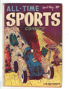 ALL-TIME SPORTS COMICS #4 (1949) - GRADE 4.0 - PUBLISHED BY HILLMAN!