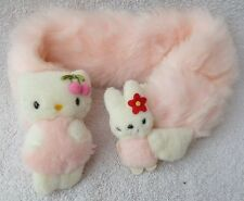 Official Sanrio Smiles Hello Kitty Pastel Pink Scarf Soft Plush Toy Japan Kawaii