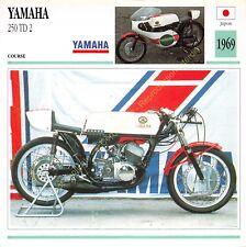 Fiche Photo Moto Japon Japan YAMAHA 250 TD 2 1969 Edito Service