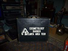 Vintage ATLANTA AREA TECH COSMETOLOGY BARBER Equipment Travel Case Box DISPLAY !