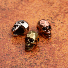 Copper Skull Bracelet Connector Spacer Charm Loose Beads Silver Rose Gold Beads