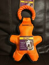 Multipet Tug 'O Man with Rope Orange Tough Dog Toy , 14""