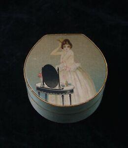 CIRCA 1920 RICHARD HUDNUT ELEGANT FACE POWDER BOX DEAUVILLE NATURELLE VANITY