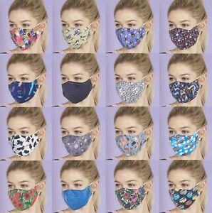 Eco Chic Reusable Adjustable Cloth Face Mask Cover Filter Free P&P On Additional