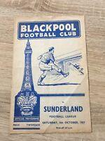 Blackpool v Sunderland 5th October 1957