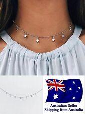 Fashion Women Simple Silver Star Choker Necklace Chain Jewelry Gifts Choker 1pc
