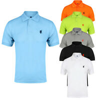 Mens Polo Shirt Short Sleeve Designer Shirts Top Plain Golf Horse S M LG XL XXL