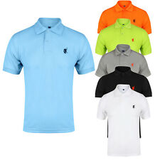Mens Polo Shirt Short Sleeve Designer Shirts Top Plain Golf Horse S M LG XL XXL