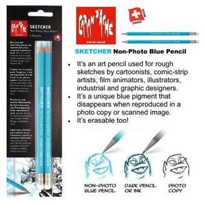 Caran Dache Sketcher Pencil Non Photocopy Blue Pencil Cartoon Faison Design Art