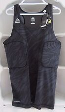 Adidas Basketball Techfit Men's Padded Tank Black ClimaCool Compression 2XL NWT!