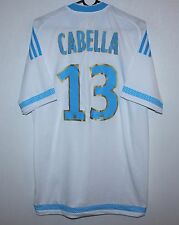 Olympique Marseille France home shirt 15/16 #13 Cabella Adidas BNWT Size XS