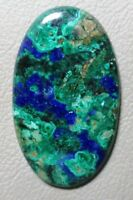 Nice Azurite Malachite 37x18x5mm,47cts Azurite Malachite Oval Shape beautiful cabochon loose gemstone ZZ-3208