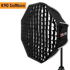 Portable Bowens Mount w/ Honeycomb Grid Octagon Umbrella Softbox 90m for Studio