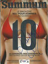 Maryse Ouellet 2x Signed Oct 2013 Summum Magazine PSA/DNA COA WWE Diva Autograph