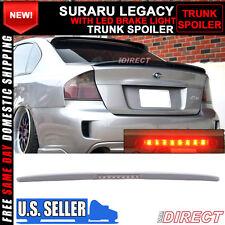 05-09 Fits Subaru Legacy Sedan 4Dr Trunk Spoiler WithLED Brake Light Lamp (FRP)