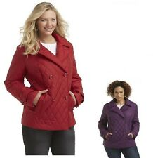 Covington Womens Plus Jacket Quilted Solid Polyester Solid size 3X NEW